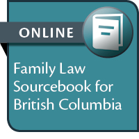 Family Law Sourcebook for British Columbia--ONLINE ACCESS