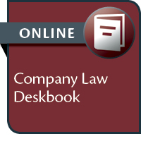 Company Law Deskbook--ONLINE ONLY