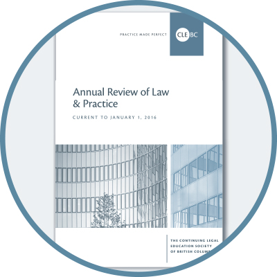 Annual Review of Law & Practice - 2016